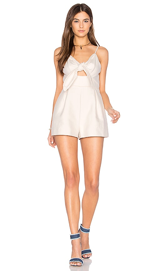 keepsake Coming Home Romper in Ivory
