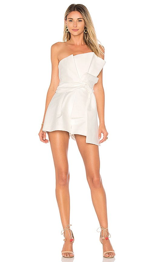 keepsake Retrograde Romper in White