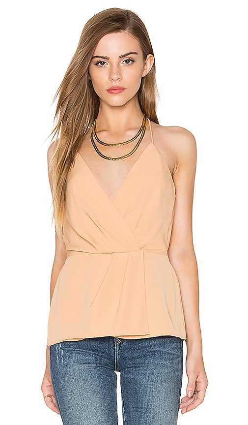 keepsake Rescue Me Top in Beige