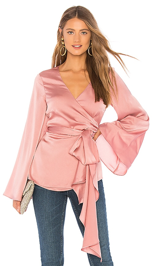 Gorgeous wrap top with bell sleeves