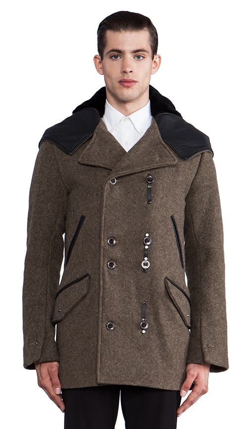 Asher Hooded Peacoat