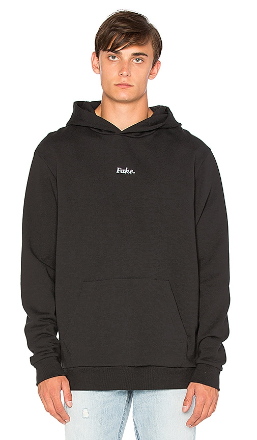 Ksubi Fake Pop Over Hoody in Black