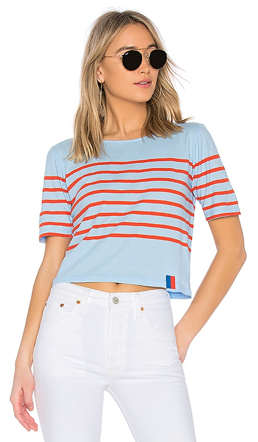 Kule The Crop Tee in Baby Blue