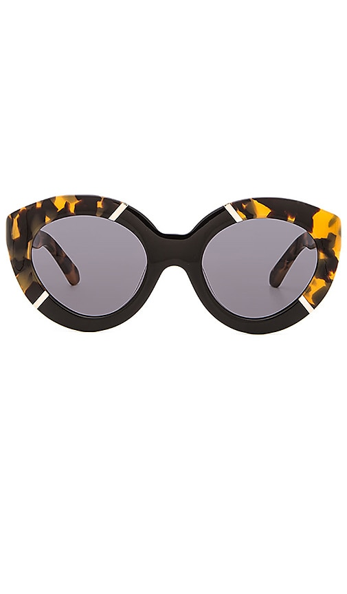 2e068f7dcc8 Karen Walker Flowerpatch in Crazy Tort   Black   Gold