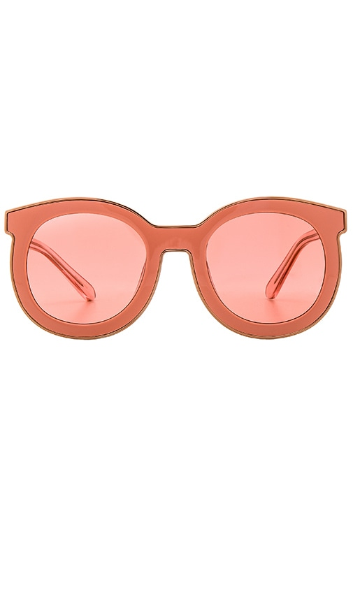 b017a9542ee Karen Walker Super Spaceship in Rose Pink   Shiny Rose Gold