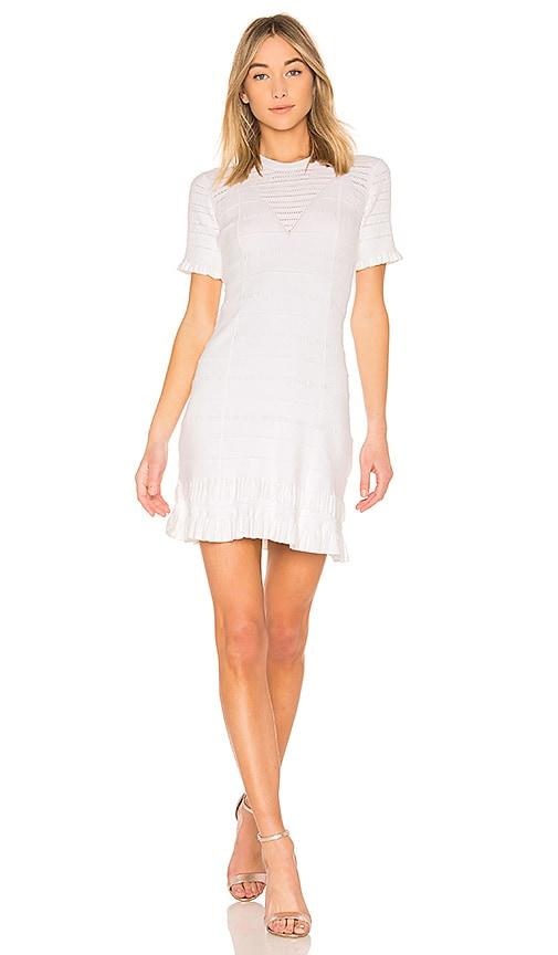 Kenzo Short Sleeve Flare Dress in White