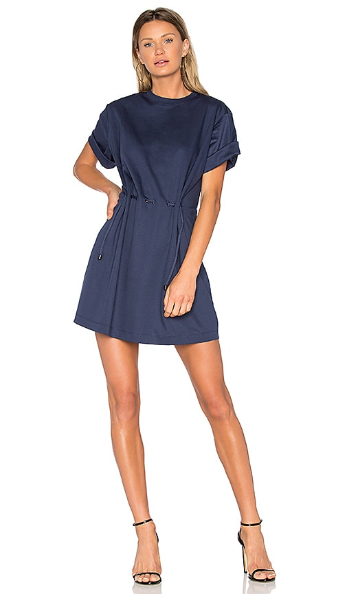 Kenzo Tie Waist Dress in Navy