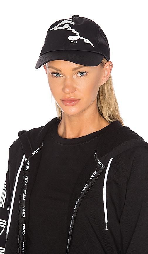 Kenzo Signature Cap in Black