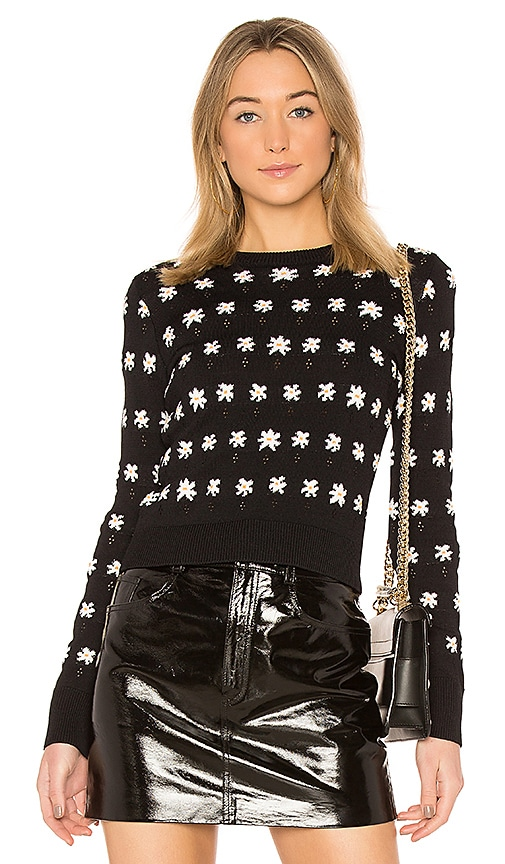 Kenzo Floral Jackie Sweater in Black