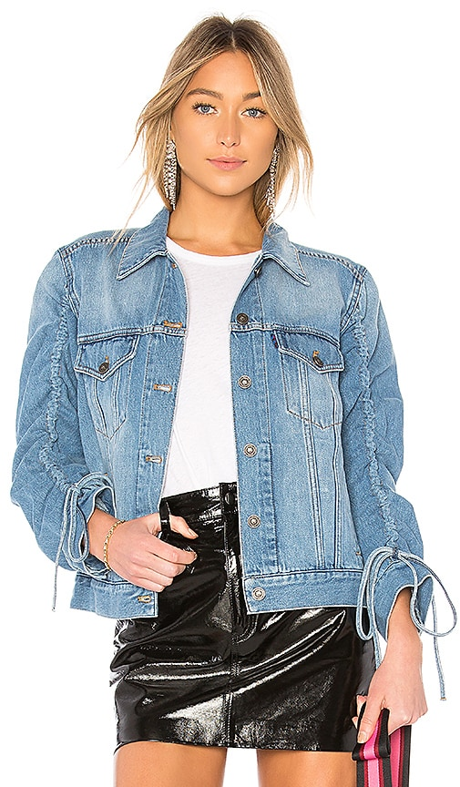 Kenzo Trucker Denim Jacket in Sky Blue
