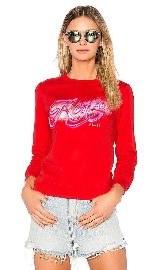 Kenzo Graphic Sweatshirt in Red