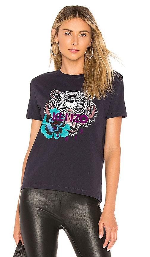 a66ee620 Kenzo Flower Tiger Relax T Shirt in Ink | REVOLVE