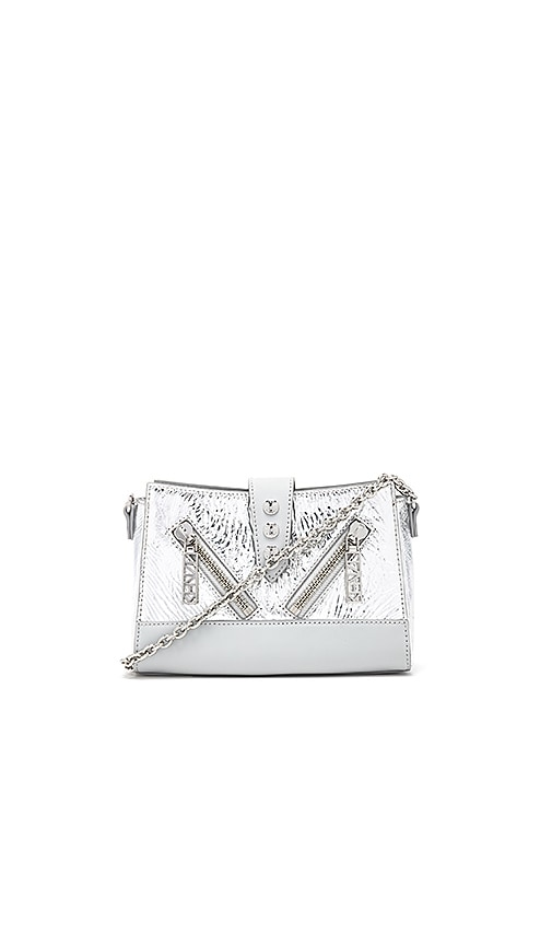 Kenzo Mini Shoulder Bag in Metallic Silver