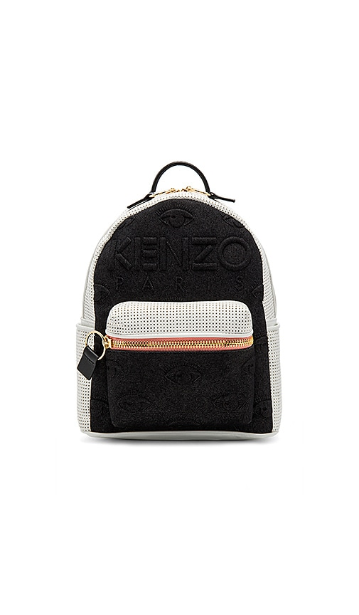 Kenzo Neoprene On Denim Eyes Backpack in White