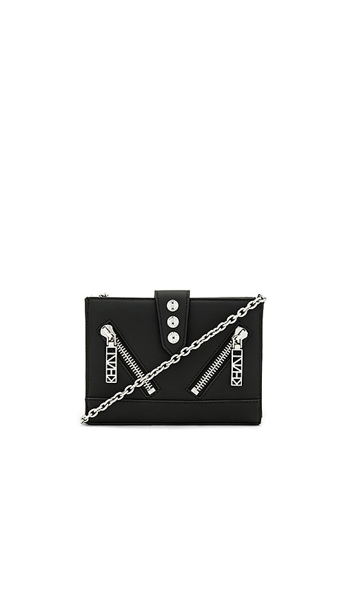 Kenzo Gommato Shoulder Bag in Black
