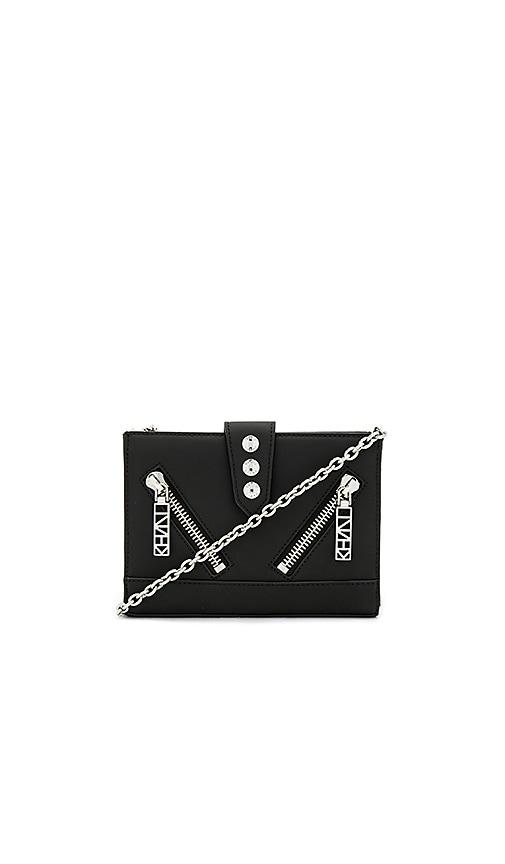 Kenzo Gommato Shoulder Bag in Black