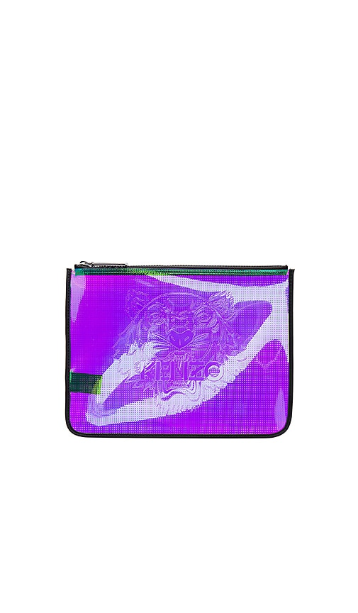 Iridescent PVC Clutch