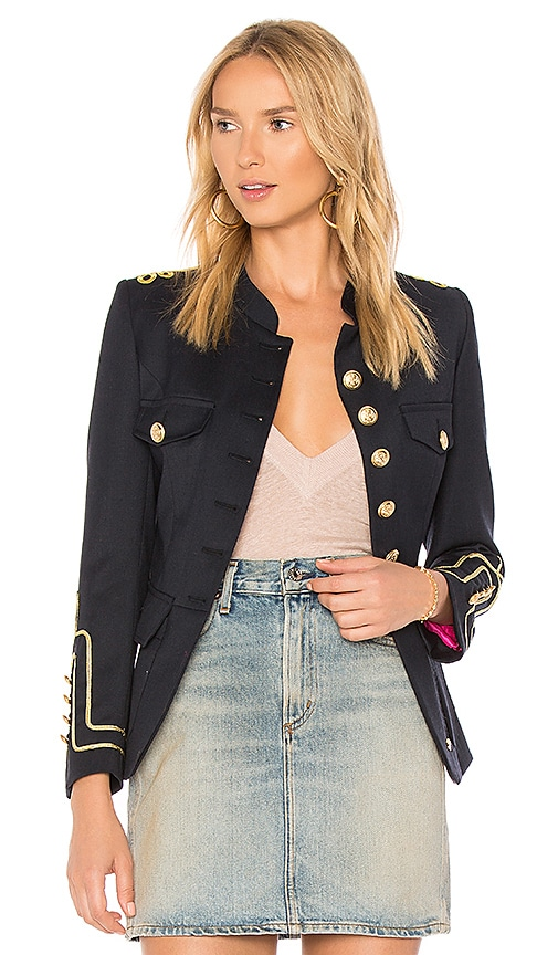 La Condesa Peplum Marinera Jacket in Navy