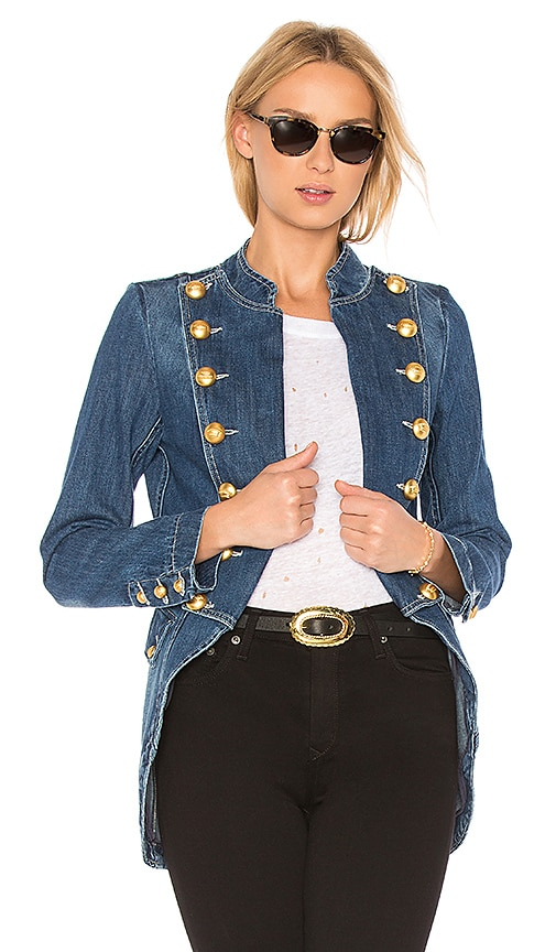 La Condesa General Denim Jacket in Blue