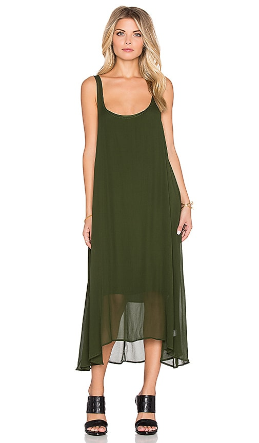 b510f1186c35 LACAUSA Clara Dress with Easy Slip in Evergreen | REVOLVE