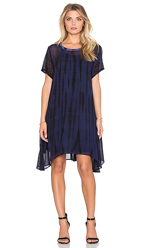 LACAUSA Factory Mini Dress with Racer Slip in Blue