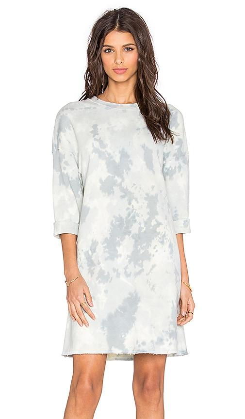 LACAUSA Doze Dress in Angel Wash Moss