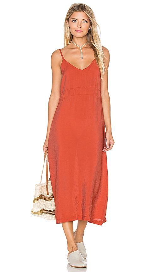 LACAUSA Alma Slip Dress in Burnt Orange