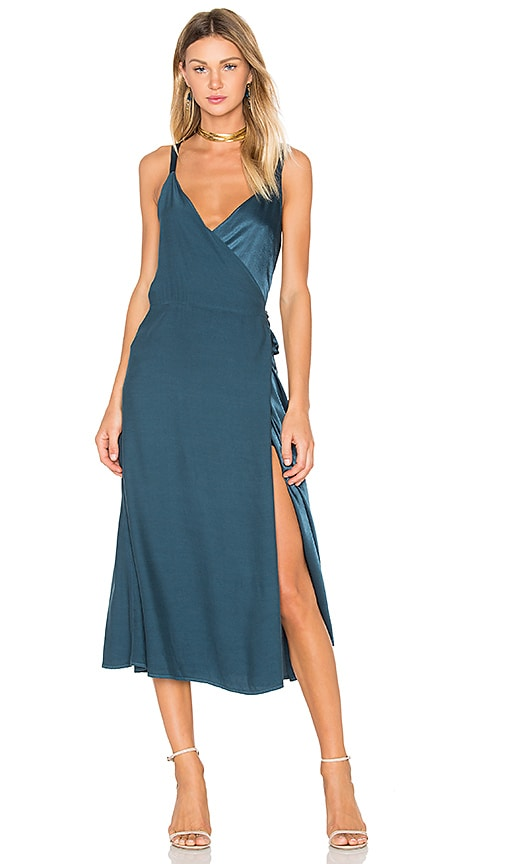 LACAUSA Las Palmas Dress in Teal