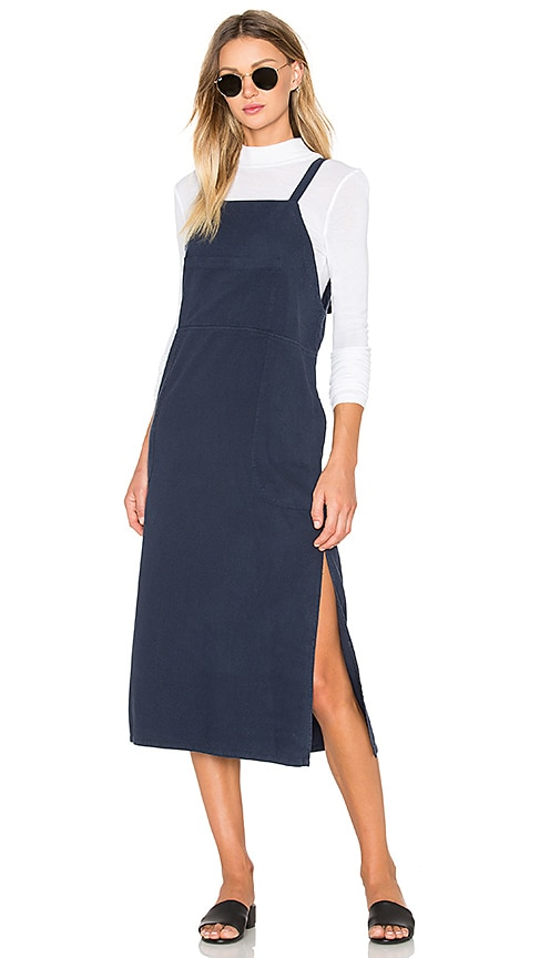 LACAUSA Overall Dress in Navy