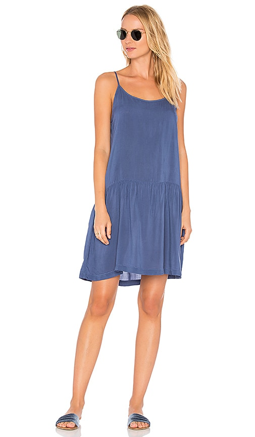 LACAUSA Babe Slip Dress in Blue