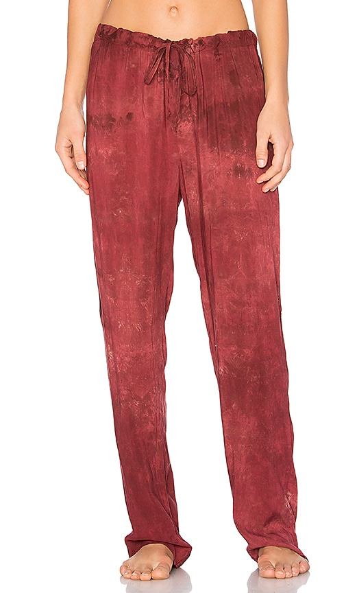 LACAUSA Dulce PJ Pant in Red