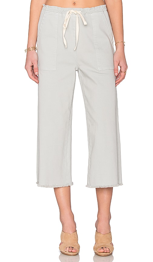 LACAUSA Denim Crop Pants in Rain