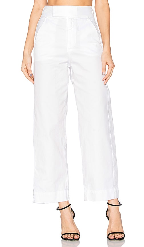 LACAUSA Uniform Trouser in White