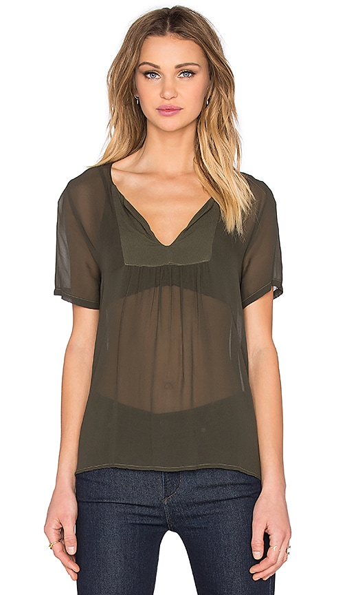 LACAUSA Fling Top in Olive