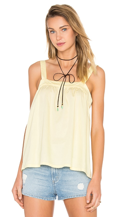 LACAUSA Dahlia top in Yellow