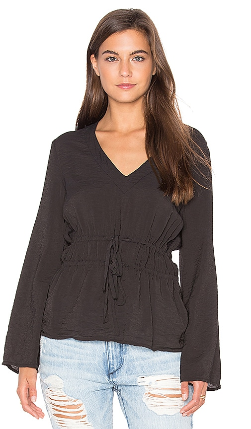 LACAUSA Parachute Top in Black