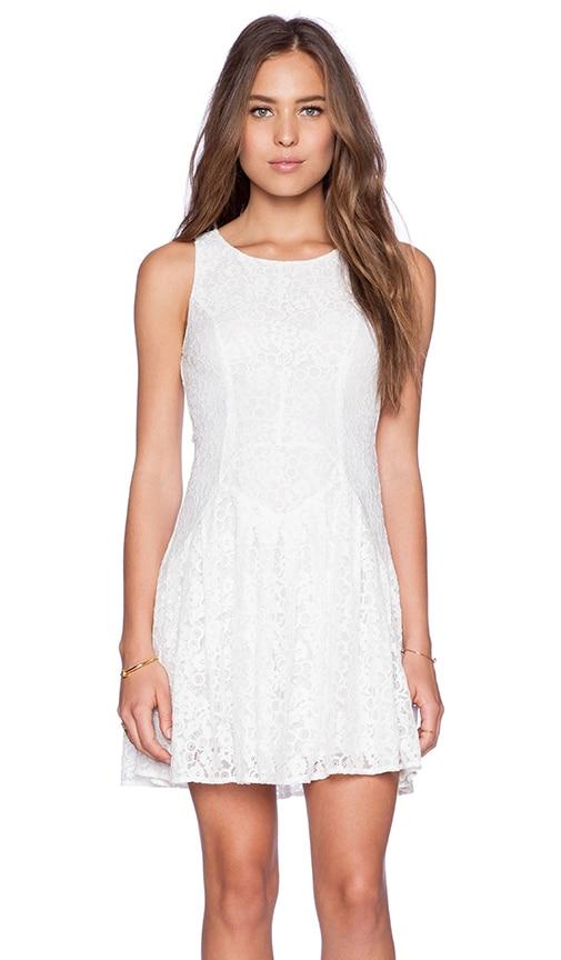 Ladakh Camilla Lace Dress in White