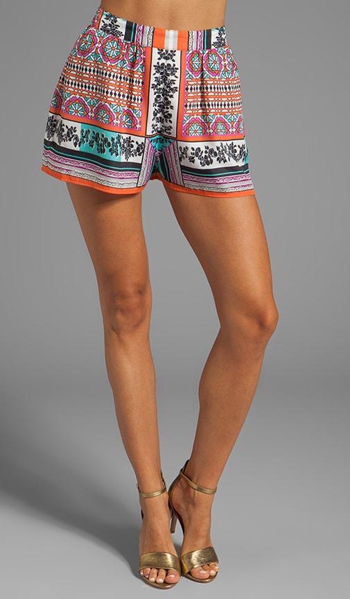 Resort Scarf Print Shorts