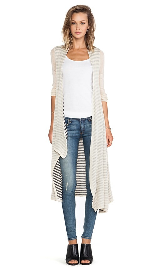 Stripe Reverse Cardigan