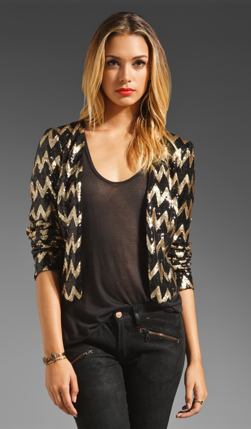 For Keeps Zig Zag Sequin Jacket