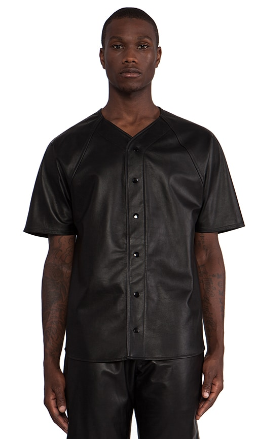 Leather Baseball Jersey
