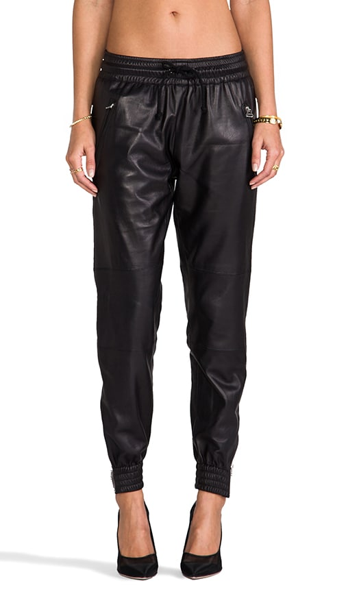 Leather Zip Jogger