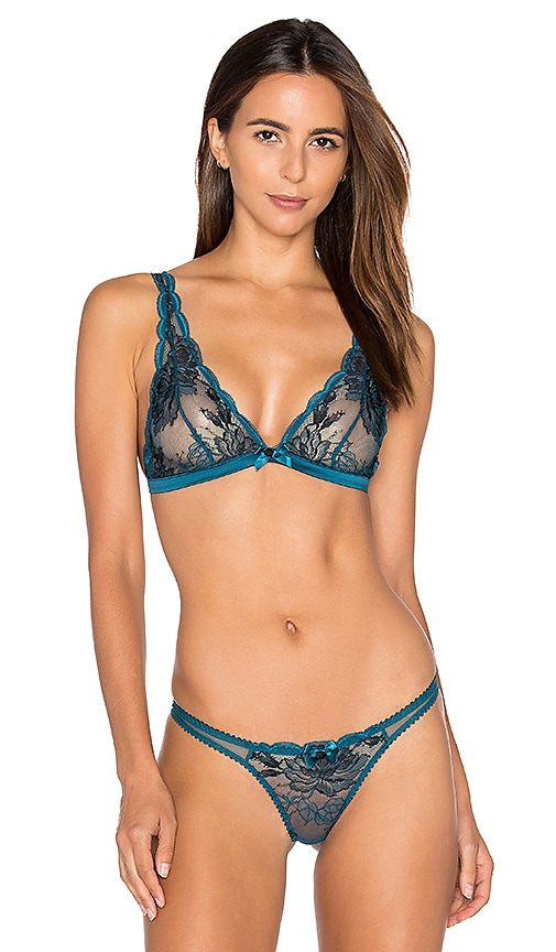 L'Agent by Agent Provocateur Dani Soft Cup Bra in Teal