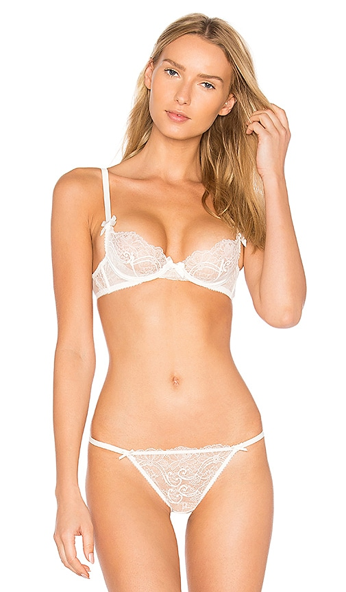 L'Agent by Agent Provocateur Madalene Non Pad Plunge Bra in White
