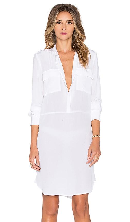L'AGENCE Tessa Shirtdress in White