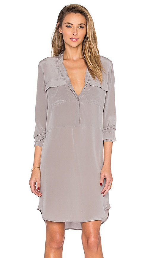 L'AGENCE Tessa Shirt Dress in Dove
