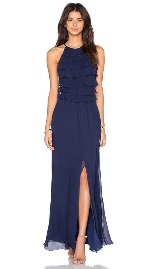 L'AGENCE Adriana Maxi Dress in Sapphire