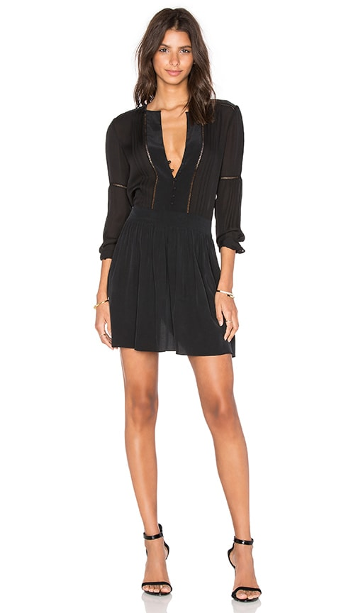 L'AGENCE Ellie Dress in Black