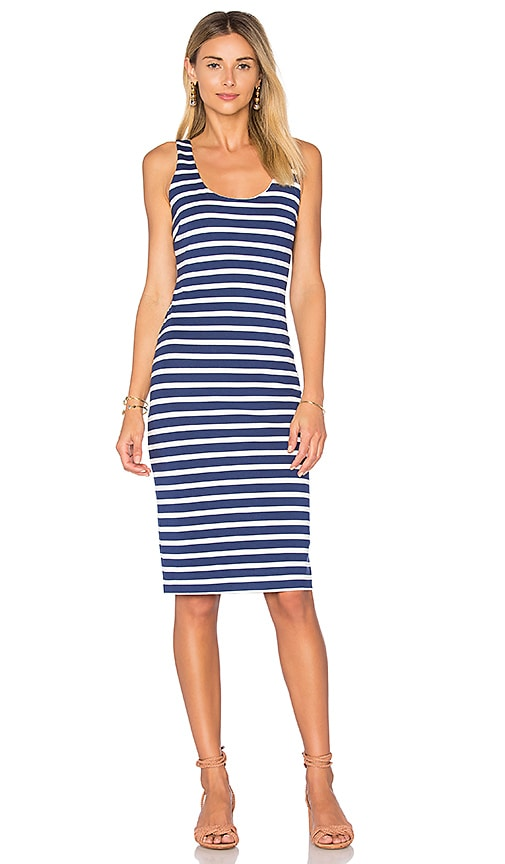 L'AGENCE Roxanne Tank Dress in Blue