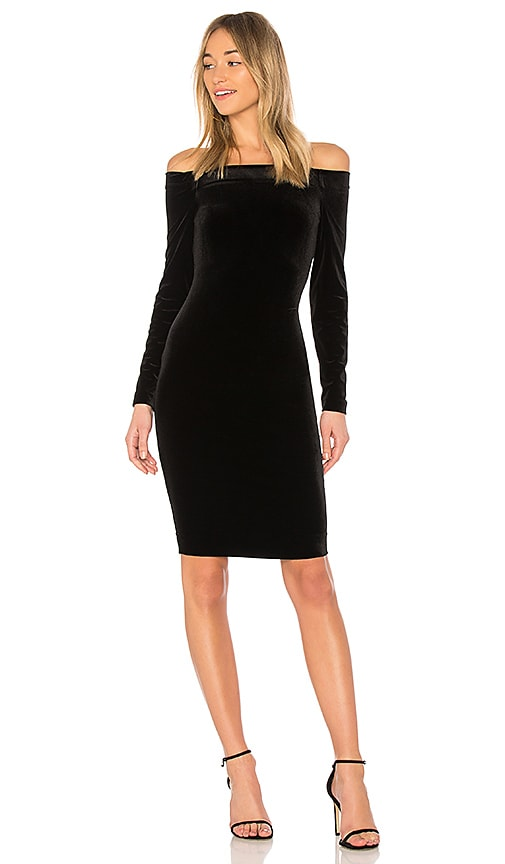 L'AGENCE Daphne Dress in Black